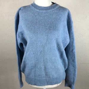 Vintage 70s light blue wool sweater L pullover